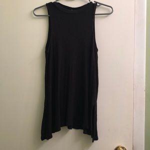 High neckline black tunic